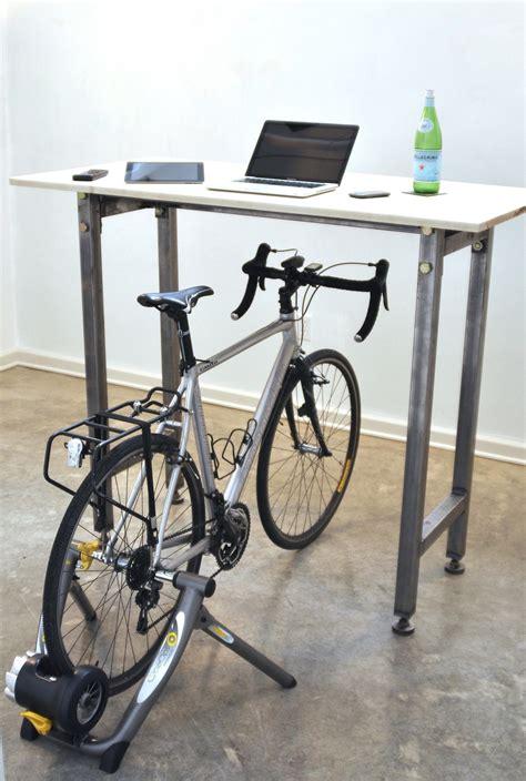 Diy Bike Desk Kickstand Furniture Lets You Cycle At Your Desk Visi