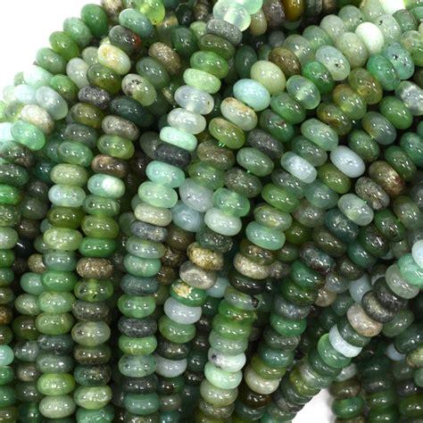Green Chrysoprase Ring 15 australian green chrysoprase rondelle gemstone 15 5 quot strand 6mm 8mm 10mm ebay