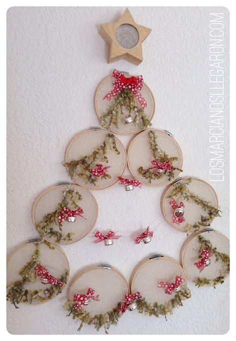 decoraci n navide a c mo hacer un rbol de navidad decoraciones navide 241 as con aros de bordar manualidades