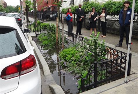 project history green infrastructure nycdep completes green infrastructure projects in hazen and sawyer