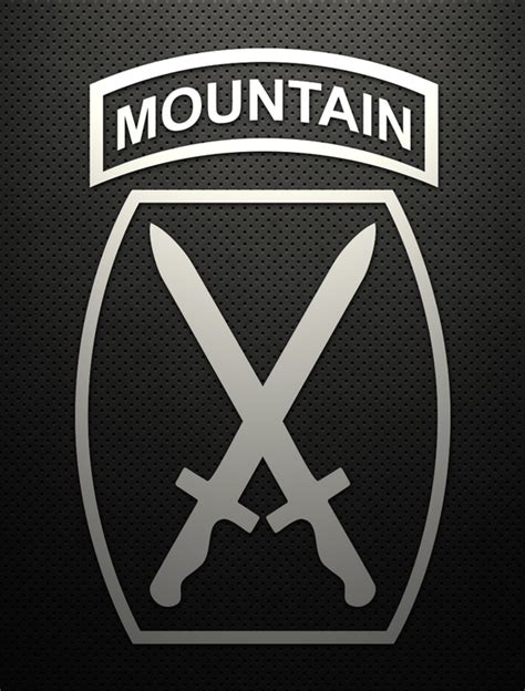 Kyle Cutting Sticker Us Army 10th Mountain Division 10th mountain 5 quot cut vinyl decal gruntworks11b