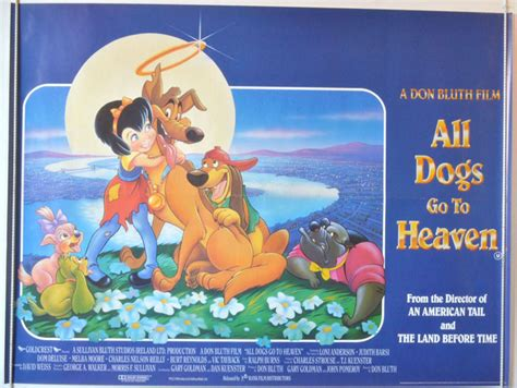 all dogs go to heaven 3 all dogs go to heaven original cinema poster from
