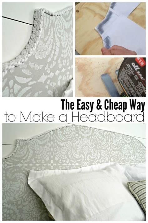 how to make an inexpensive headboard vintage farmhouse master bedroom refresh living