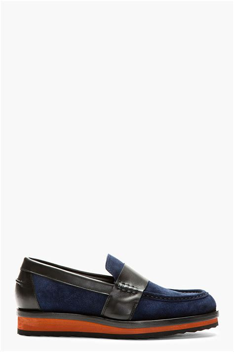 black platform loafers hardy navy and black platform loafers in blue for