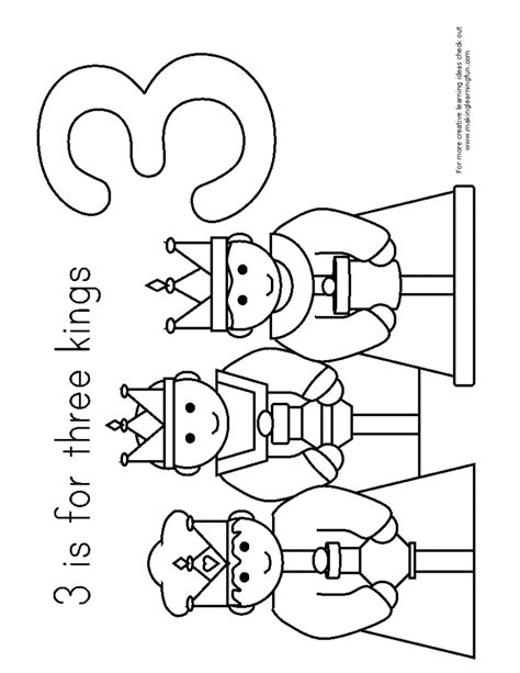 the three the three coloring pages many interesting cliparts