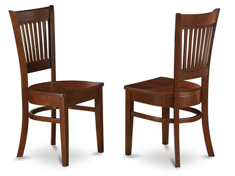 set of 2 vancouver chairs for dining room espresso finish