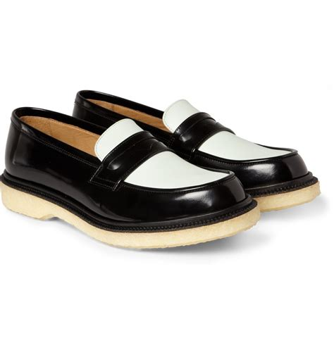 two tone loafers adieu two tone crepe soled loafers in black for