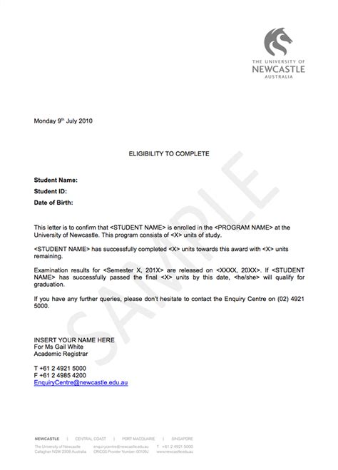Cancellation Letter Pattern Forms And Guides Study Essentials Current Students The Of Newcastle Australia