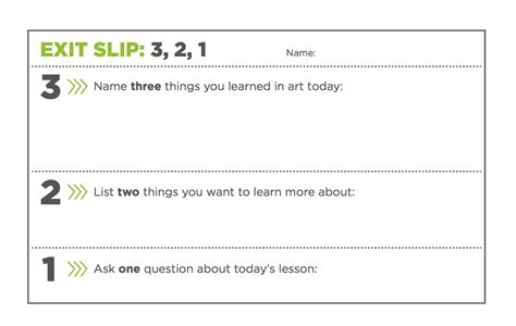 3 Simple Exit Tickets To Boost Student Comprehension The Art Of Ed Exit Template