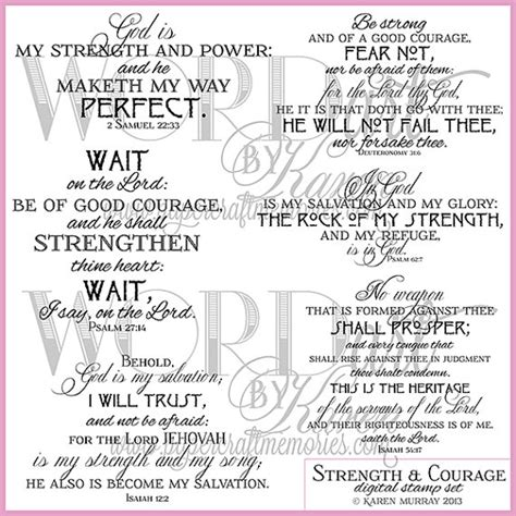 bible verse for comfort and strength kjv courage biblical strength quotes quotesgram