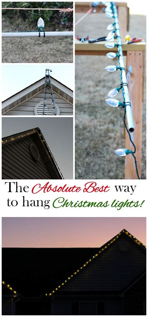 install christmas decorations on roof hanging lights the easy way hanging lights lights and easy