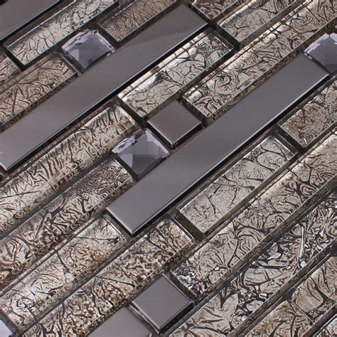 metal mosaics tile for bathroom backsplash home interiors wholesale metallic backsplash tiles brown 304 stainless