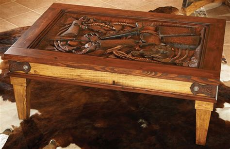 western coffee table by montana silversmiths