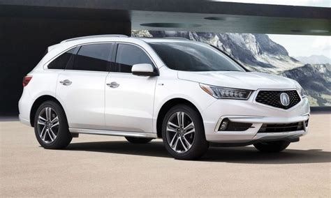 white acura suv 2017 acura mdx arrives with updated styling new hybrid