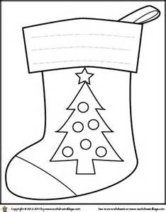 Christmas Tree Stocking Coloring Page sketch template