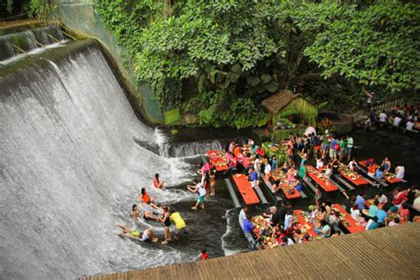 villa escudero water runs over your feet as you dine at the amazing villa