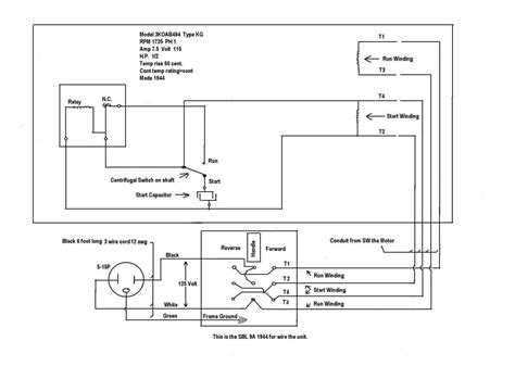 electric motor wiring diagram single phase dejual
