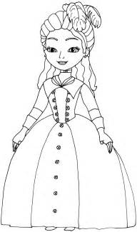 princess sofia coloring pages beautiful dress coloringstar