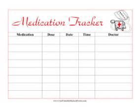 printable kids medication tracker