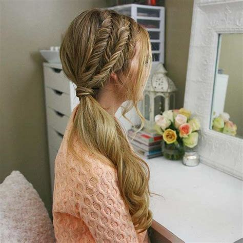 everyday hairstyles for wet hair best 25 side ponytail hairstyles ideas on pinterest