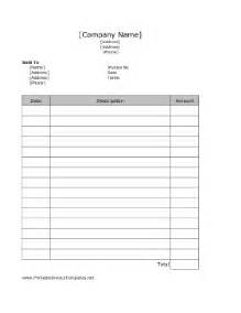 usable invoice template simple invoice template