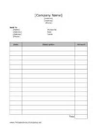 free printable blank invoice templates printable invoice