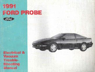 old car manuals online 1991 ford probe engine control 1991 ford probe electrical and vacuum troubleshooting manual