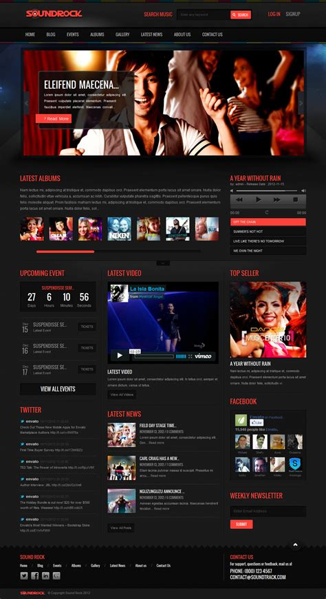 themes wordpress music band sound rock music band wordpress theme by chimpstudio