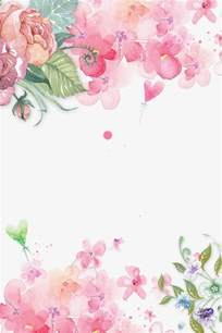 hand painted floral pink flowers decorative background