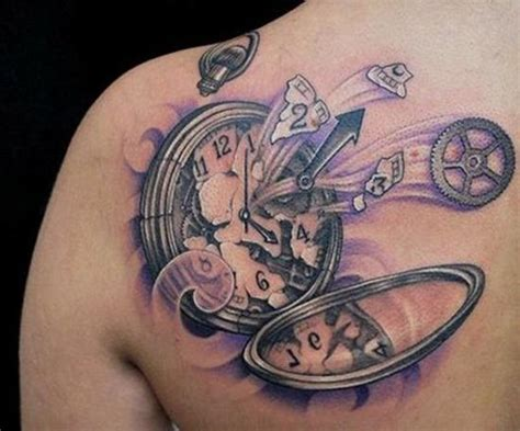 broken pocket watch tattoo 100 unique tattoos