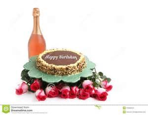 birthday cake on white background stock images image
