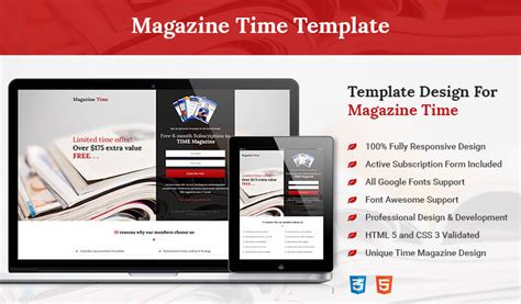 Html5 Responsive Time Magazine Style Squeeze Page Design Template For Your Business Conversion Real Estate Squeeze Page Templates