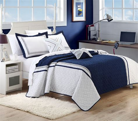 Blue And White Bed Sets Navy Blue And White Comforter And Bedding Sets