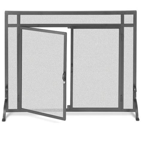 pilgrim 39 inch x 31 inch forged iron fireplace screen
