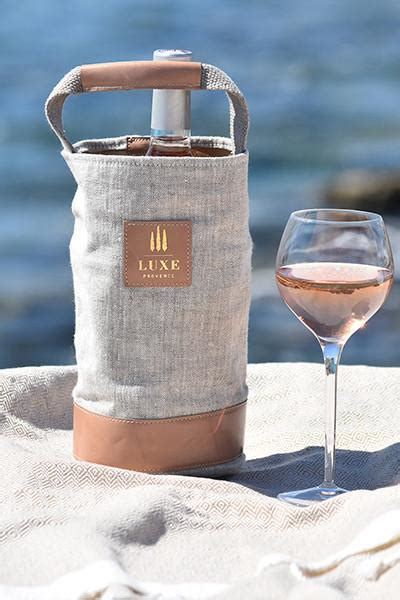 luxe provence chillchic sac leather wine cooler bag