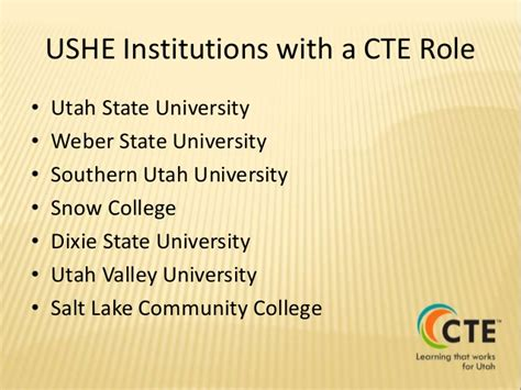 Utah State S Uvu Mba Program by Ushe S In Career And Technical Education