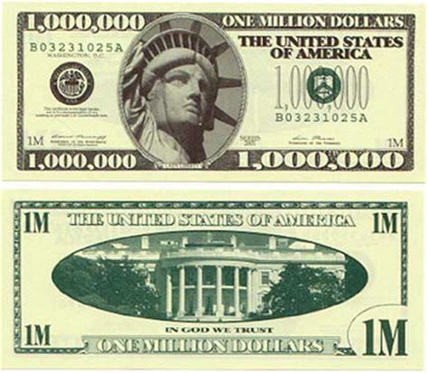 free printable fake money front and back million the real looking fake million dollar bill