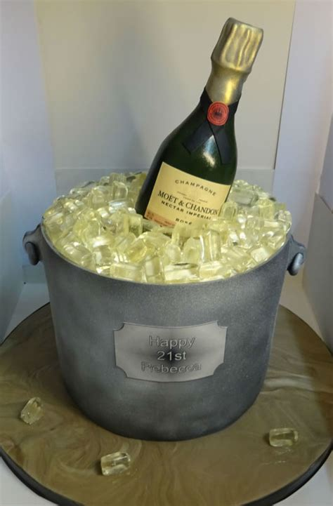 Best Home Decor Blogs Uk Champagne Bottle In Ice Bucket Cake By Markscakes
