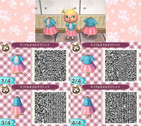 cute wallpaper qr codes cute spring cat dress acnl qr code ac nl qr codes