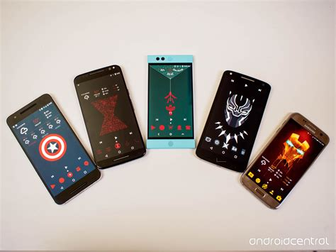 america phone kick with our captain america civil war themes android central