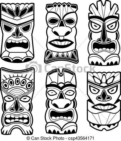 ilustraciones vectoriales de conjunto hawaiano m 225 scaras