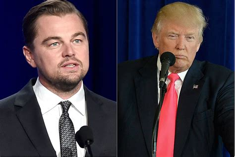 donald trump environment leonardo dicaprio trump talk climate change job one
