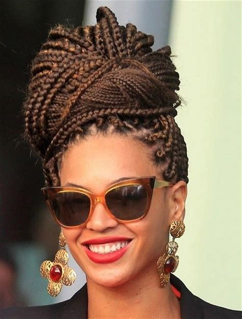 breadings for short hairstyles beyonce knowles classy box braids beehive prom wedding
