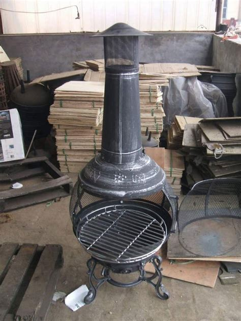 chiminea cooking grate grape cast iron chiminea buy chiminea ourdoor fireplace
