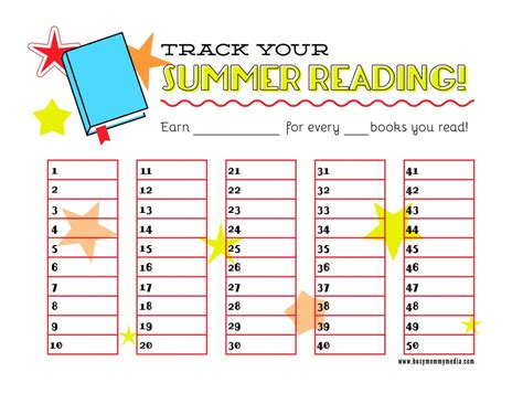 free printable reading graphs free printable summer reading chart