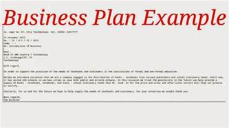 business exles business plan exle sles business letters