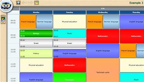 teaching timetable template timetable exle calendar template 2016
