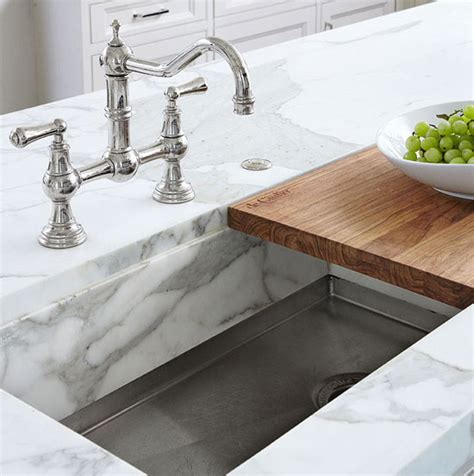 Kitchen Sink With Sliding Cutting Board sliding cutting board sink traditional kitchen traditional home