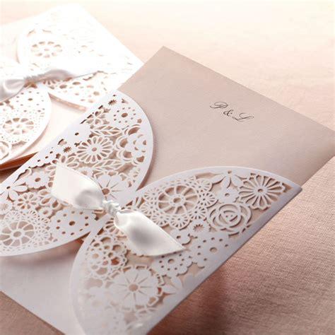 wedding invitation card cover design unique wedding invitation card white flower laser cut