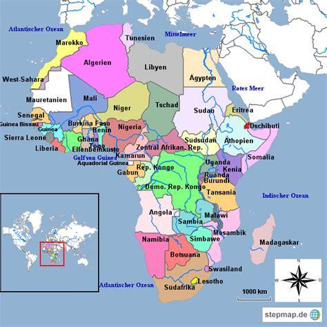 Länder Afrikas von supi   Landkarte für Afrika